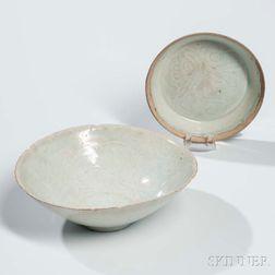 Qingbai-glazed Bowl and Dish