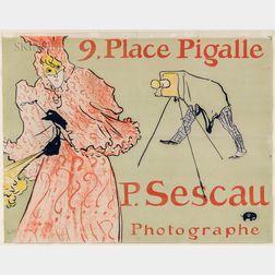 Henri de Toulouse-Lautrec (French, 1864-1901)      Le Photographe Sescau