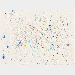 American School, 20th Century    Abstract Spatter Painting