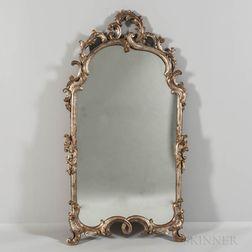 Rococo-style Silver-gilt Carved Mirror