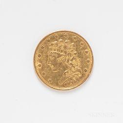 1835 $5 Classic Head Gold Coin