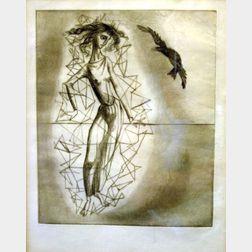 Framed Surrealist Print