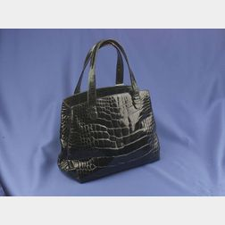 Black Alligator Hand Bag, Judith Leiber