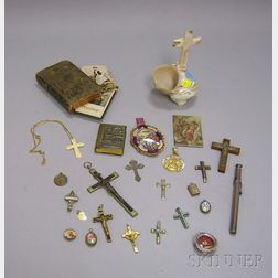 Group of Assorted Small Religious Items