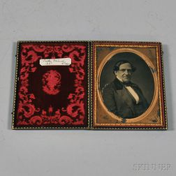 Half-plate Daguerreotype Portrait of Salem, Massachusetts, Merchant Tucker   Daland