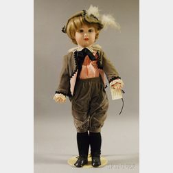 Large Reproduction Bisque Head Jumeau Doll