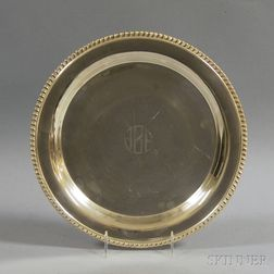Tuttle Sterling Silver Charger with Gadrooned Rim