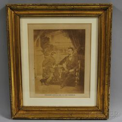"Framed Photograph ""President Lincoln and His Son Thaddeus,"""
