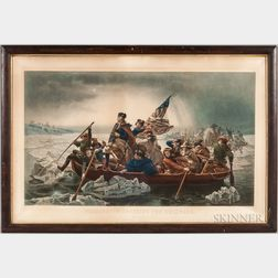 "Lithograph ""Washington Crossing the Delaware,"""