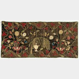 Shirred Floral Mat
