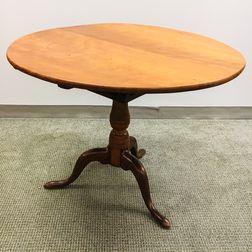 Queen Anne-style Cherry Birdcage Tilt-top Tea Table