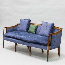 Federal-style Upholstered Mahogany Sofa