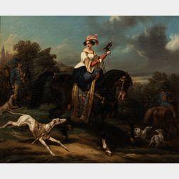 Noël-Dieudonné Finart (1797-1852)      Scène de chasse au faucon (The Falcon Hunt)