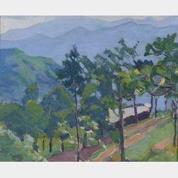 Margaret Jordan Patterson (American, 1867-1950)    Mountain Cabin