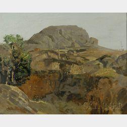 Stephen Alfred Bransgrove (Australian, b. 1900)      Landscape, Possibly Ayers Rock, Australia