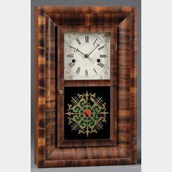 Miniature Mahogany Ogee Clock by Ansonia Brass Company