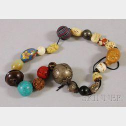 String of Approximately Twenty-two Ojime Beads