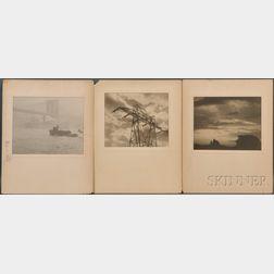 Hermann C. Lythgoe (American, act. 1920–1940)      Three Photographs: East River, High Tension