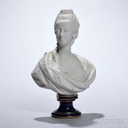 Sevres Porcelain Bust of Marie Antoinette