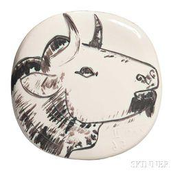 Pablo Picasso (Spanish, 1881-1973)      Bull's Profile