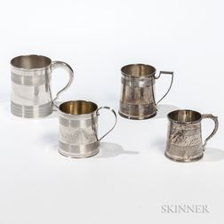 Four English Sterling Silver Cups
