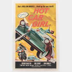 """Hot Car Girl"" One Sheet Movie Poster"