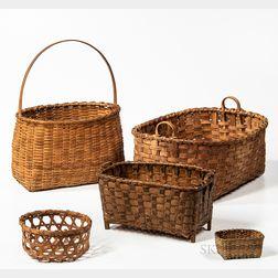 Five Splint Baskets