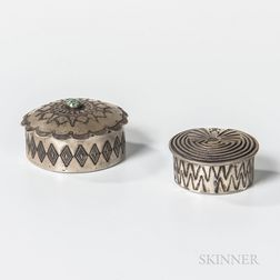 Two Navajo Silver Boxes