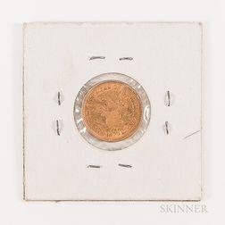 1878 $2.50 Liberty Head Gold Quarter Eagle