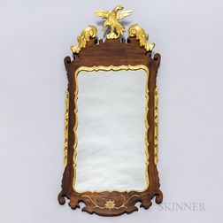 Chippendale-style Mahogany and Gilt Mirror