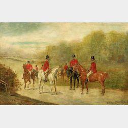 Continental School, 19th Century    Lot of Four Fox Hunting Views