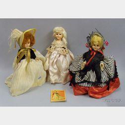 Three Madame Alexander Dolls