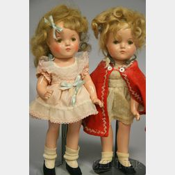 Two Madame Alexander-type Composition Dolls