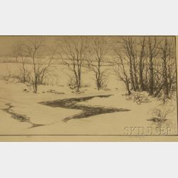 Lot of Two Framed Etchings of Landscapes by Kerr Eby (American, 1889-1946)      and Robert Swain Gifford (American, 1840-1905)