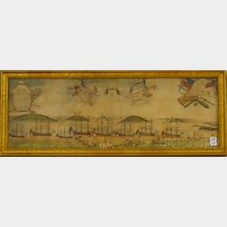 """Framed Facsimile of the """"Perspective View of the Blockade of Boston, 1768,"""""""