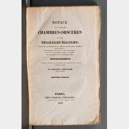 Chevalier, Charles Louis (1804-1859) Notice sur l'usage des Chambres Obscures