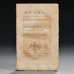Philenia [aka: Sarah Wentworth Morton] (1759-1846) Ouabi: or the Virtues of Nature. An Indian Tale in Four Cantos.