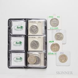 Twenty-two Commemorative Half Dollars