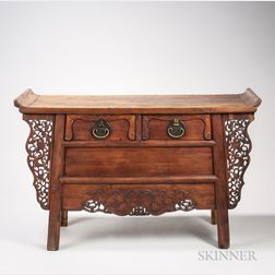 Huanghuali Two-drawer Coffer Table