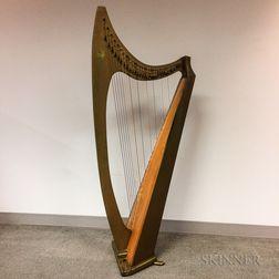 Lyon & Healy Troubadour Lever Harp,