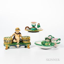 Three Majolica Items