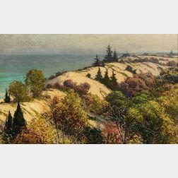Joseph Tomanek (Illinois/Indiana, 1889-1974)      Dunes Along Lake Michigan