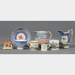 Seven English Pottery Items