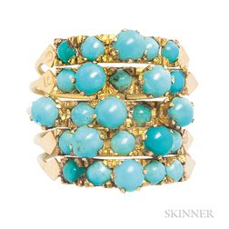 Gold and Turquoise Harem Ring