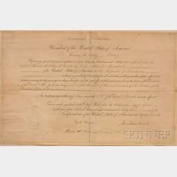 Abraham Lincoln Signed April 16, 1863 Presidential Appointment