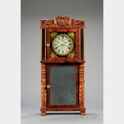 Mahogany Shelf Clock by Asa Munger & Company