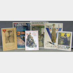 Six WWI YMCA/YWCA Lithograph Posters