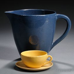 Paul Revere/Saturday Evening Girls Cup and Saucer and a Pitcher