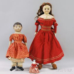 Three Miscellaneous Dolls