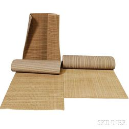 Three Rolls of Synthetic Beige Carpeting